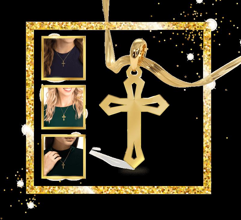 کالکشن پلاک صلیب طلا 18 عیار
