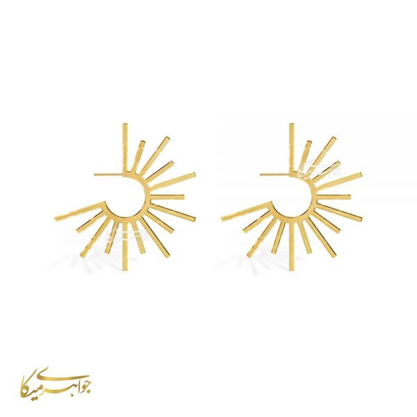 گوشواره میخی خورشیدی طلا 18 عیار کد 0510045