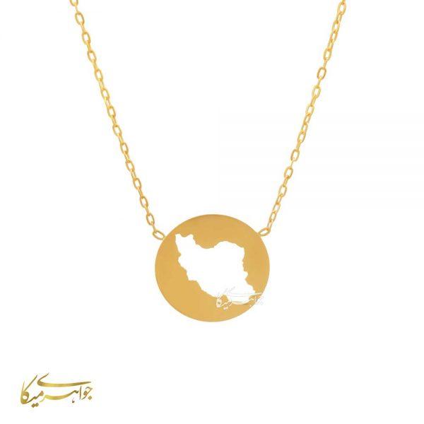 گردنبند ایران طلا 18 عیار کد 0310001