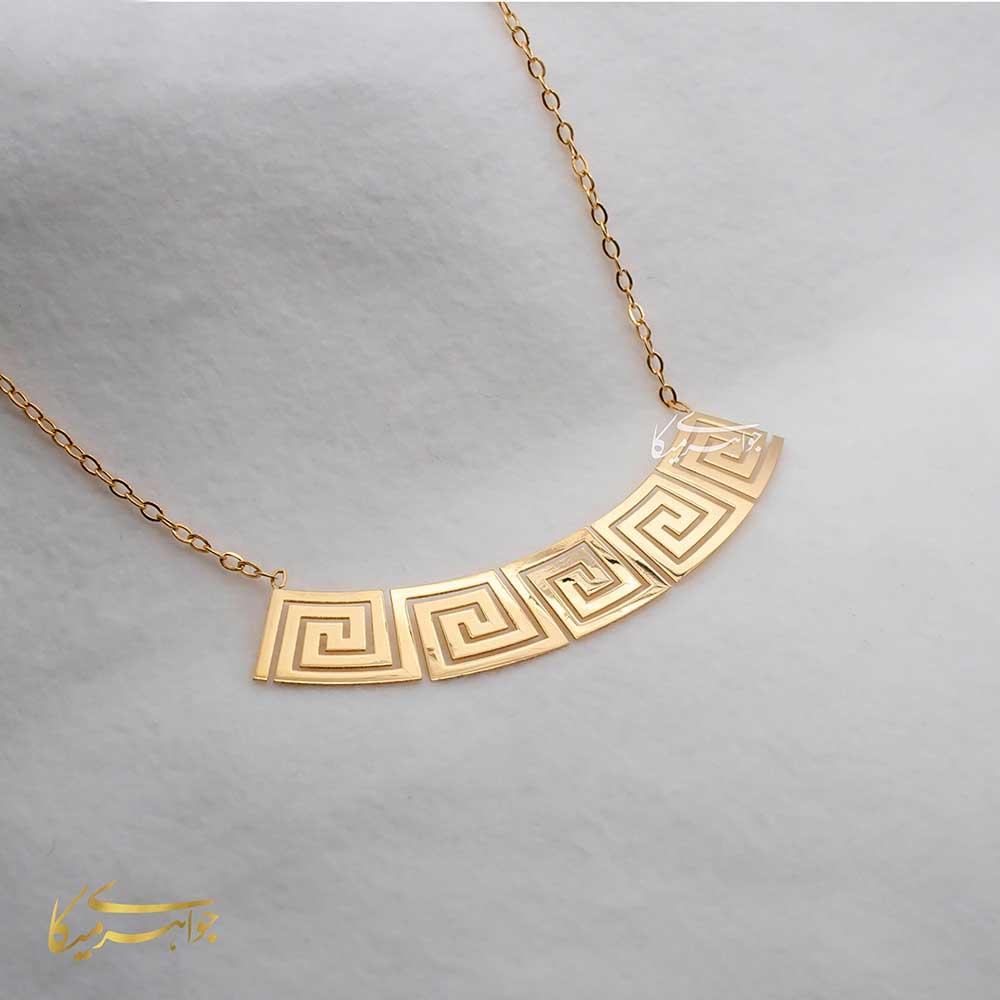 گردنبند طرح ورساچه طلا 18 عیار کد 0310002