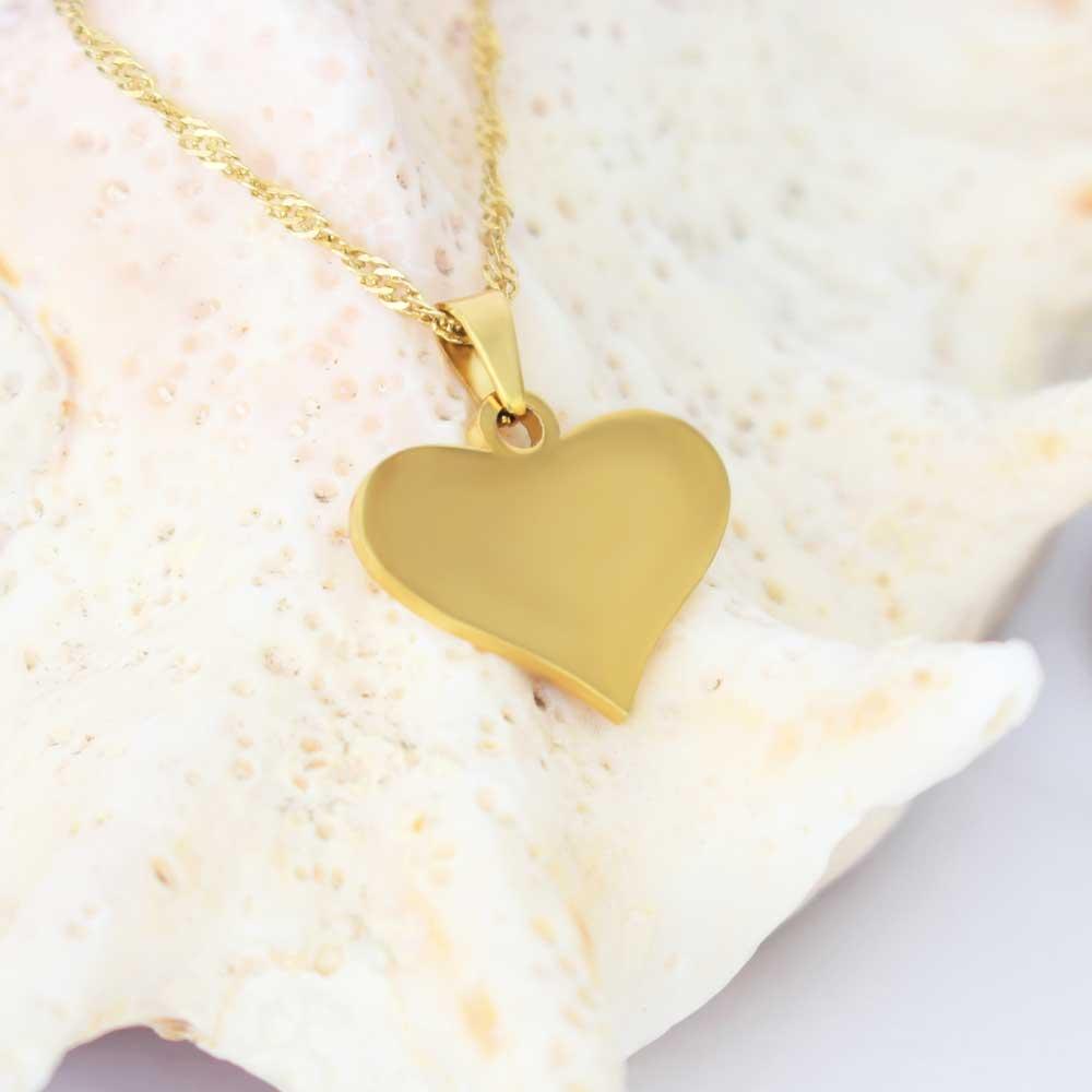 آویز گردنبند زنانه طلا 18 عیار طرح قلب کد 0610001