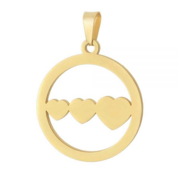 آویز گردنبند قلب طلا 18 عیار کد 0610004 طلایی