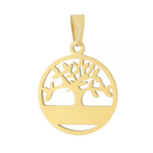 آویز گردنبند درخت زندگی طلا 18 عیار کد 0610009 طلایی