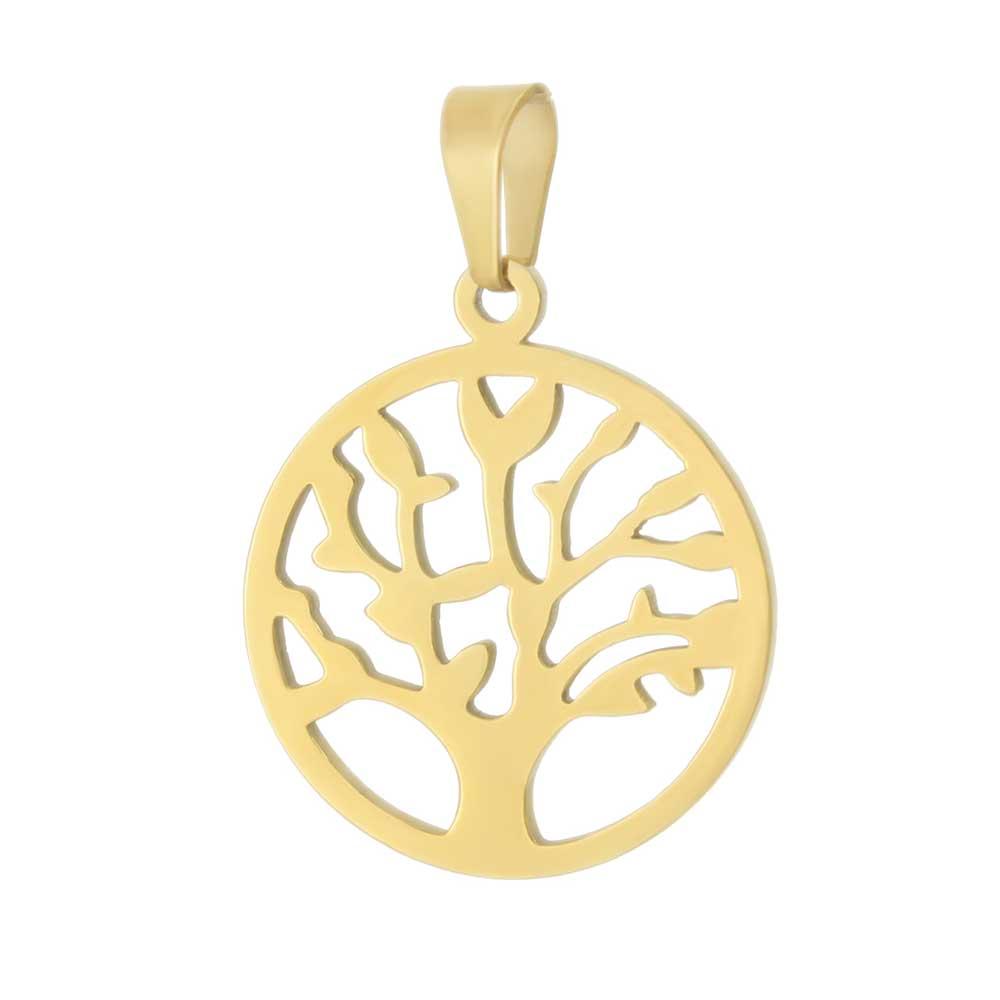 آویز گردنبند درخت زندگی طلا 18 عیار کد 0610011 طلایی