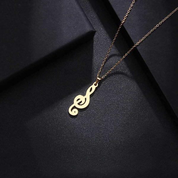 آویز گردنبند سول موسیقی طلا 18 عیار کد 0610014 طلایی دیزاین