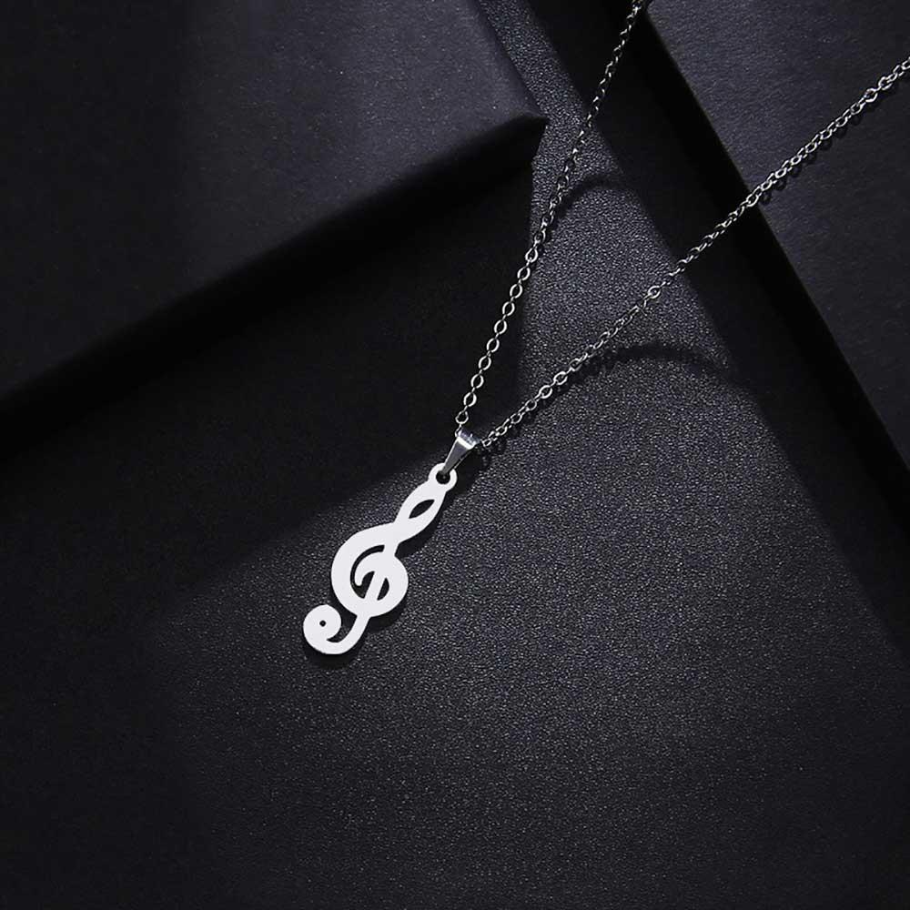 آویز گردنبند سول موسیقی طلا 18 عیار کد 0610015 نقره ای دیزاین
