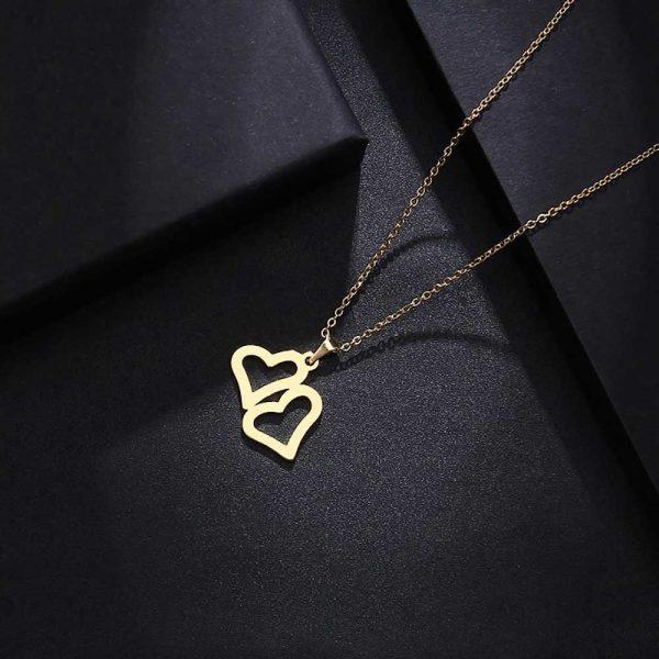 آویز گردنبند قلب طلا 18 عیار کد 0610016 طلایی دیزاین
