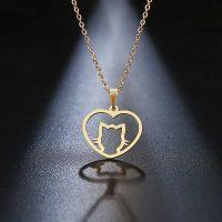 آویز گردنبند گربه طلا 18 عیار کد 0610022