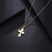 آویز گردنبند صلیب طلا 18 عیار کد 0610023
