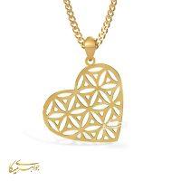 آویز گردنبند قلب طلا 18 عیار کد 0610302 طلایی