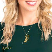 آویز گردنبند فرشته مادر طلا 18 عیار کد 0610314 مدلینگ