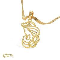آویز گردنبند زن زیبا طلا 18 عیار کد 0610317 طلایی