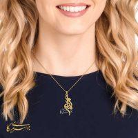 آویز گردنبند مادر و قلب طلا 18 عیار کد 0610318 مدلینگ